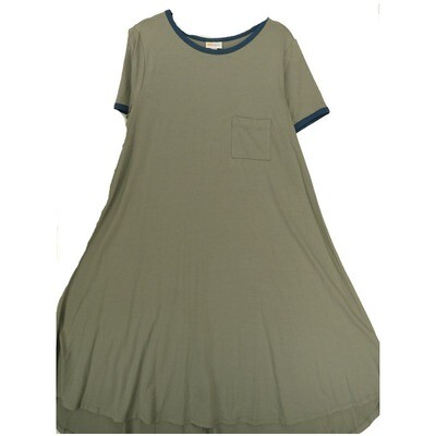 LuLaRoe CARLY Medium M Solid Gray Swing Dress fits Women 10-12