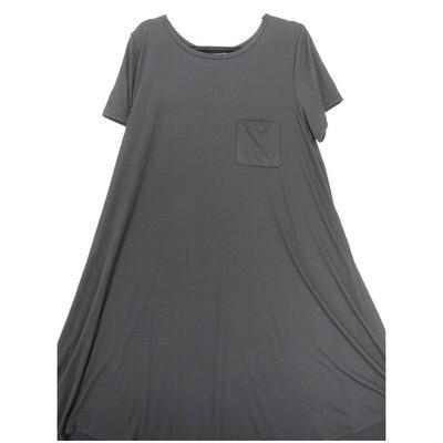 LuLaRoe CARLY XX-Large 2XL Solid Black Swing Dress fits Women 22-24
