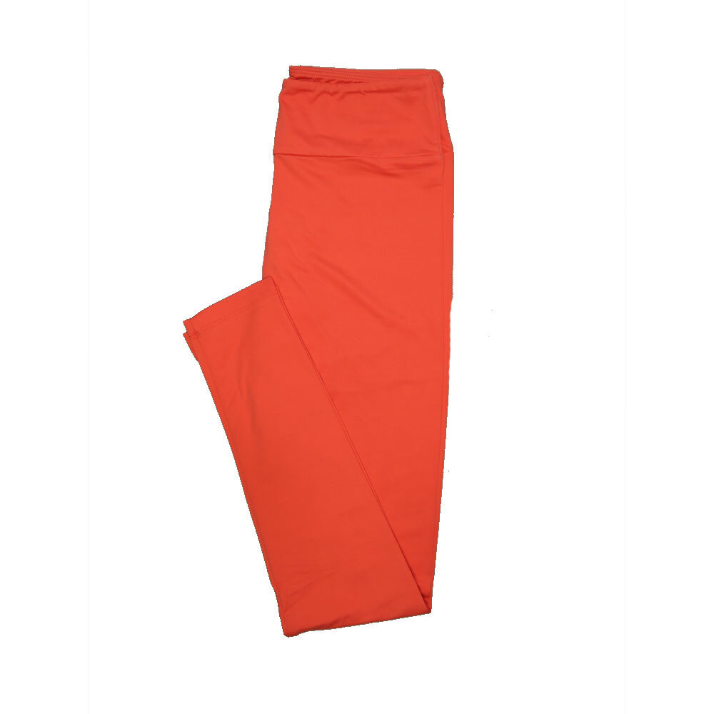 LuLaRoe One Size OS Solid Coral (161546) Womens Leggings fits Adult sizes 2-10