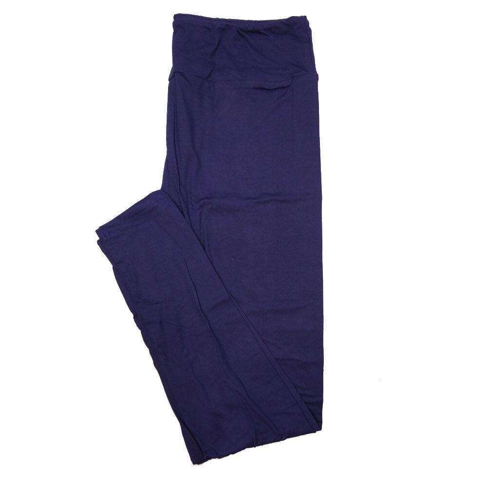 LuLaRoe One Size OS Solid Dark Purple (410-49784) Womens Leggings fits Adult sizes 2-10