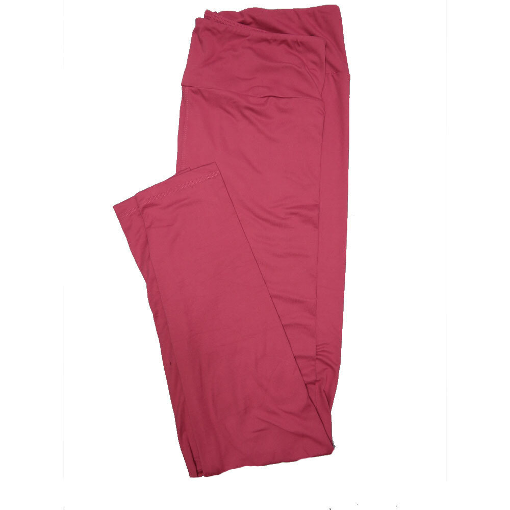 LuLaRoe One Size OS Solid Dark Rosy Pink (385-49068) Womens Leggings fits Adult sizes 2-10