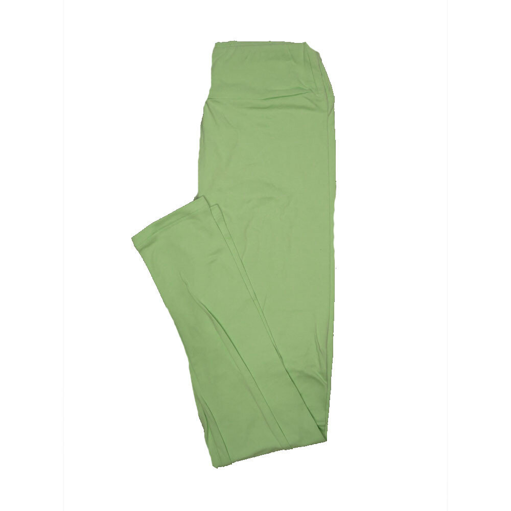 LuLaRoe One Size OS Solid Light Heathered Neon Green (90FGH) Womens Leggings fits Adult sizes 2-10