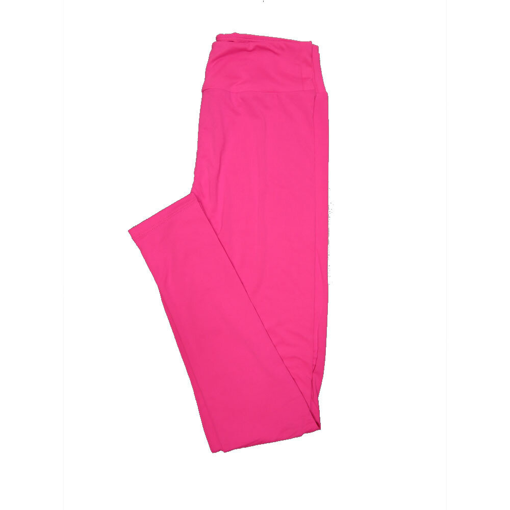 LuLaRoe One Size OS Solid Hot Pink (257537) Womens Leggings fits Adult sizes 2-10