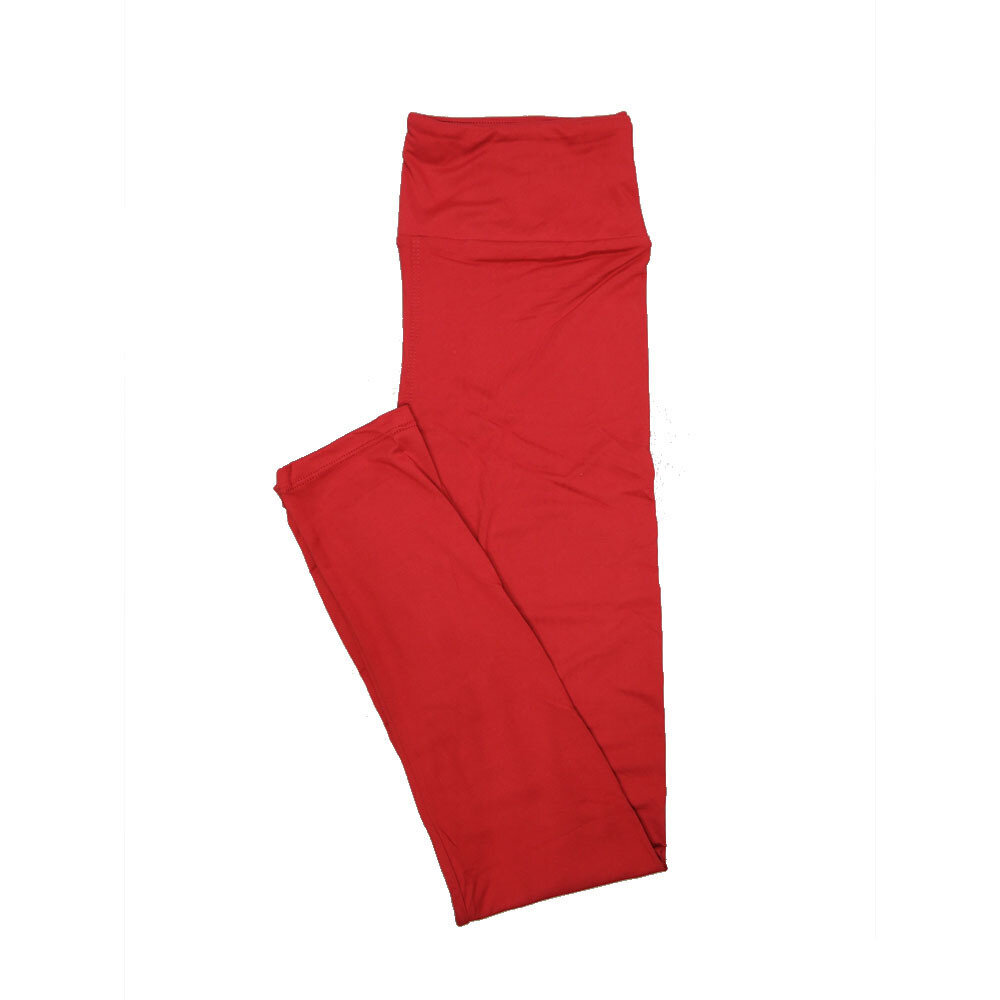 LuLaRoe One Size OS Solid Indian Red (257524) Womens Leggings fits Adult sizes 2-10