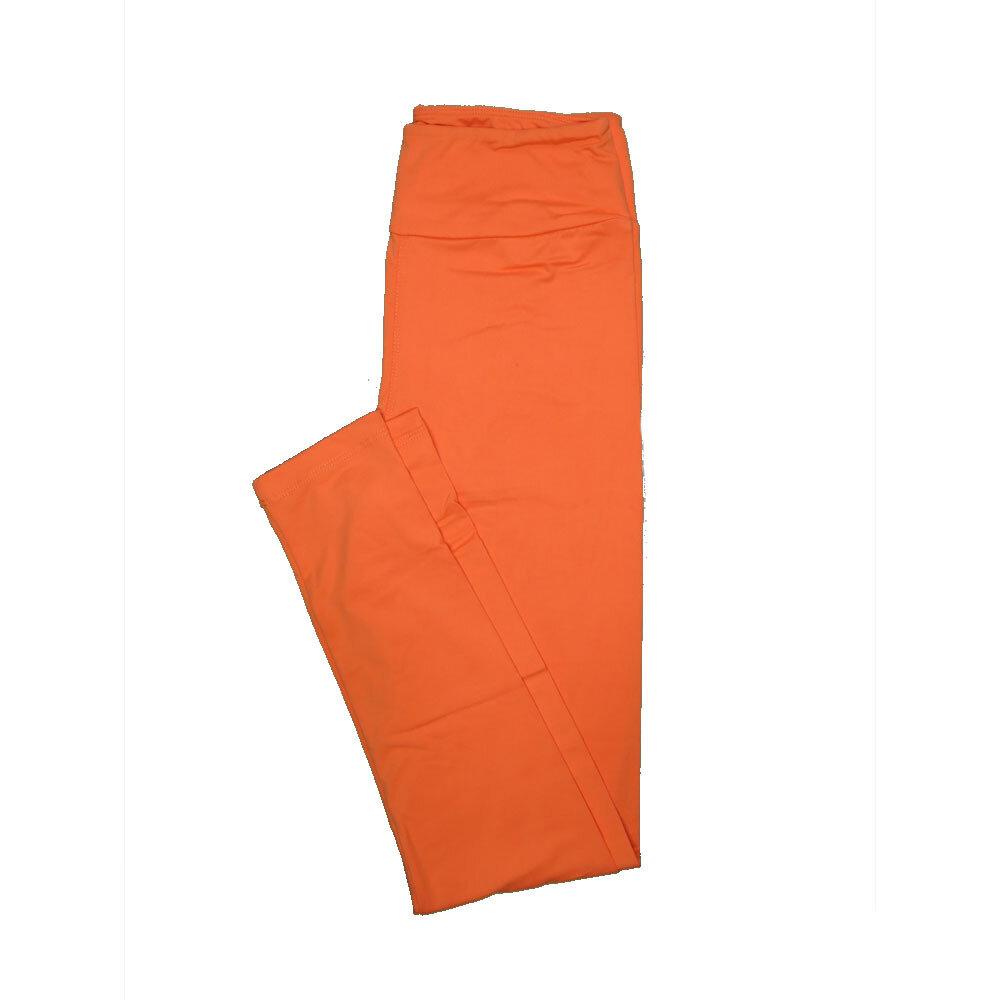 LuLaRoe One Size OS Solid Neon Orange (257511) Womens Leggings fits Adult sizes 2-10