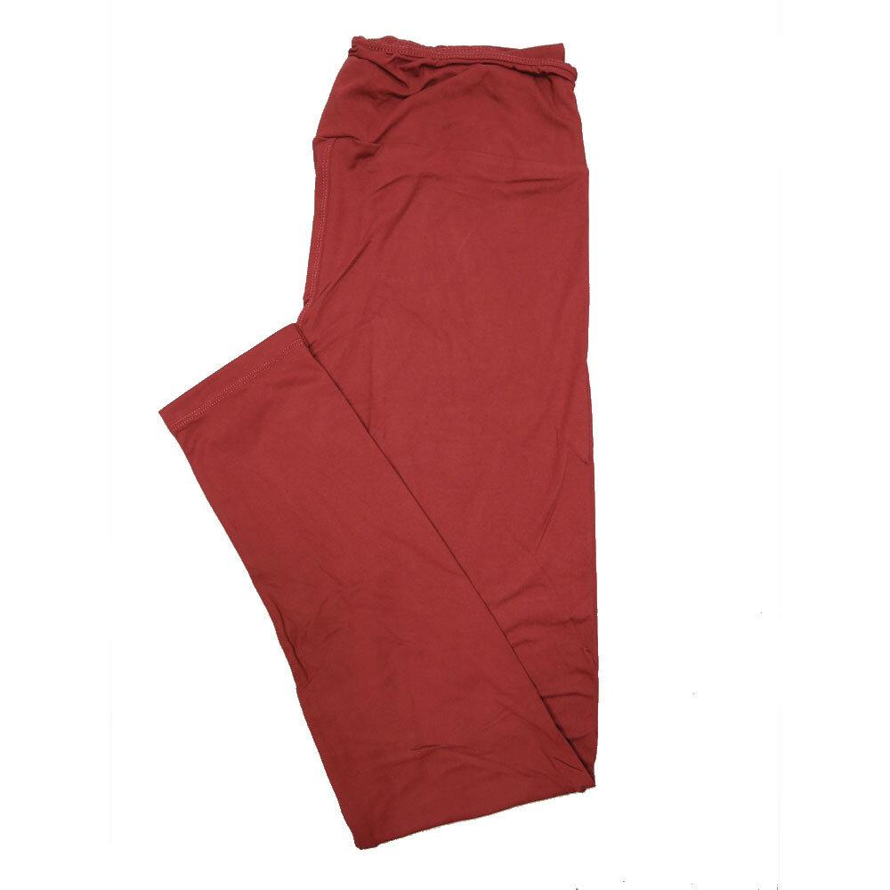 LuLaRoe Tall Curvy TC Solid Oxblood Red (191524) Womens Leggings fits Adult sizes 12-18
