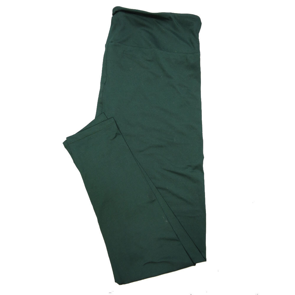 LuLaRoe Tall Curvy TC Solid Ponderosa Pine Green (195320) Womens Leggings fits Adult sizes 12-18