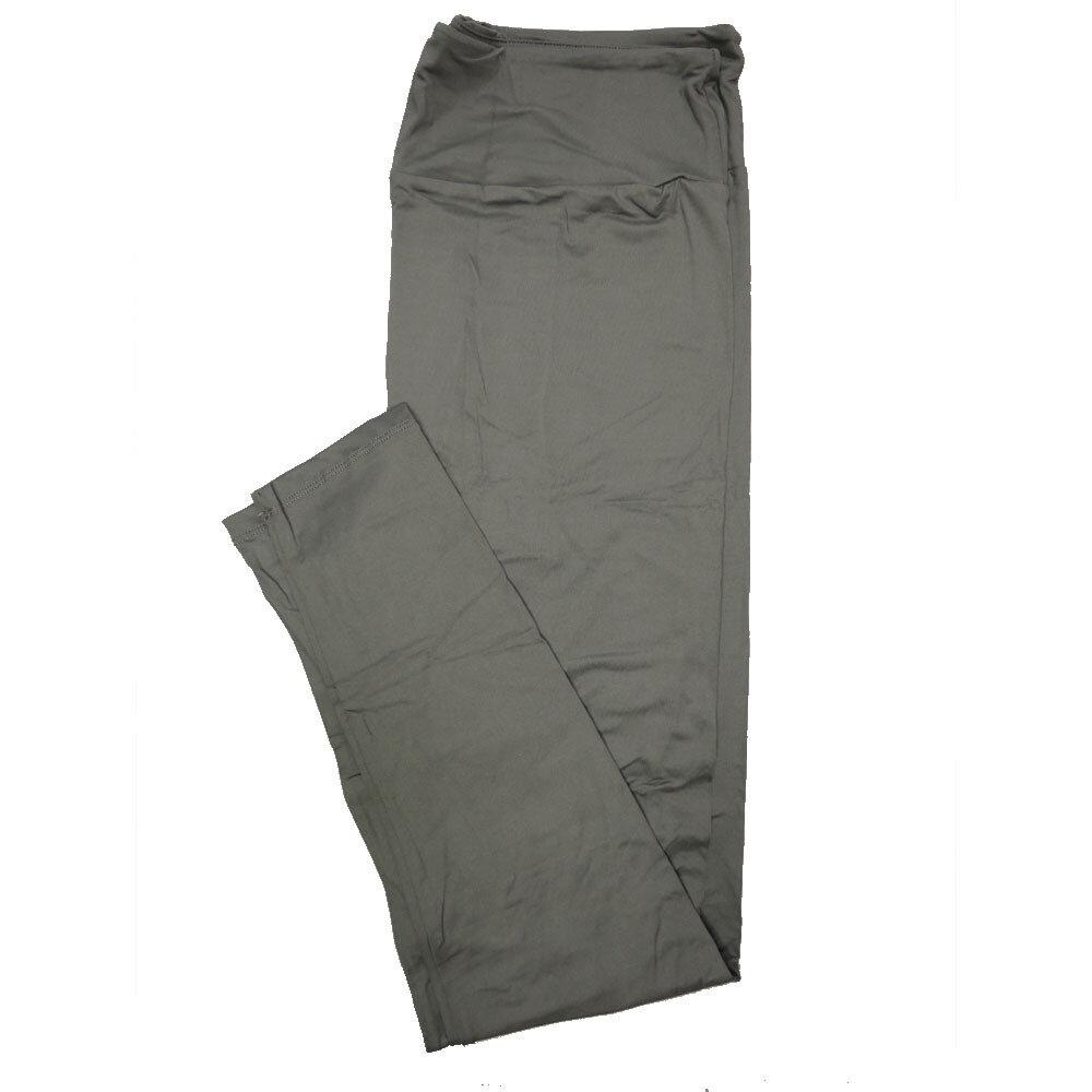 LuLaRoe Tall Curvy TC Solid Silvery Gray (410-49785) Womens Leggings fits Adult sizes 12-18