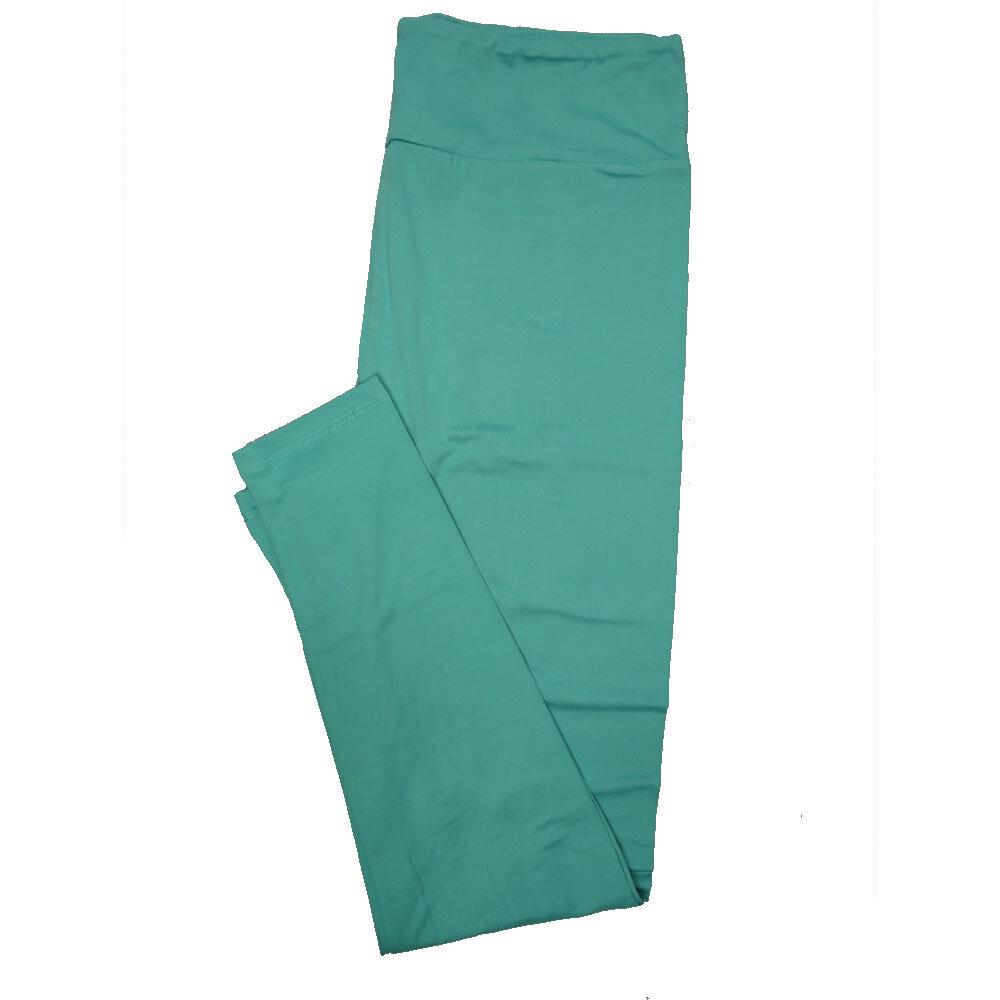 LuLaRoe Tall Curvy TC Solid Turquoise (92FGH) Womens Leggings fits Adult sizes 12-18