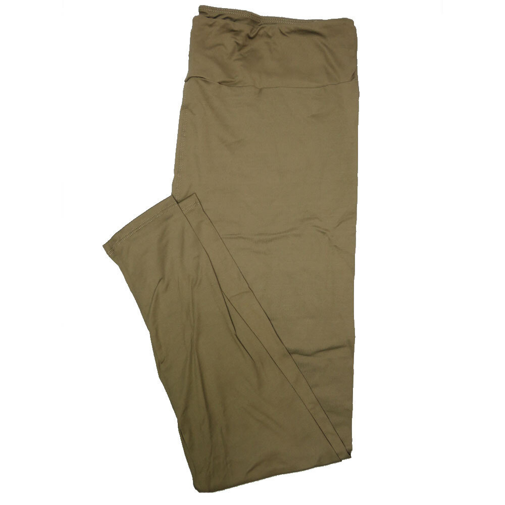 LuLaRoe TC2 Solids Olive Green (571943) Leggings (Tall Curvy 2 fits Sizes 18+)