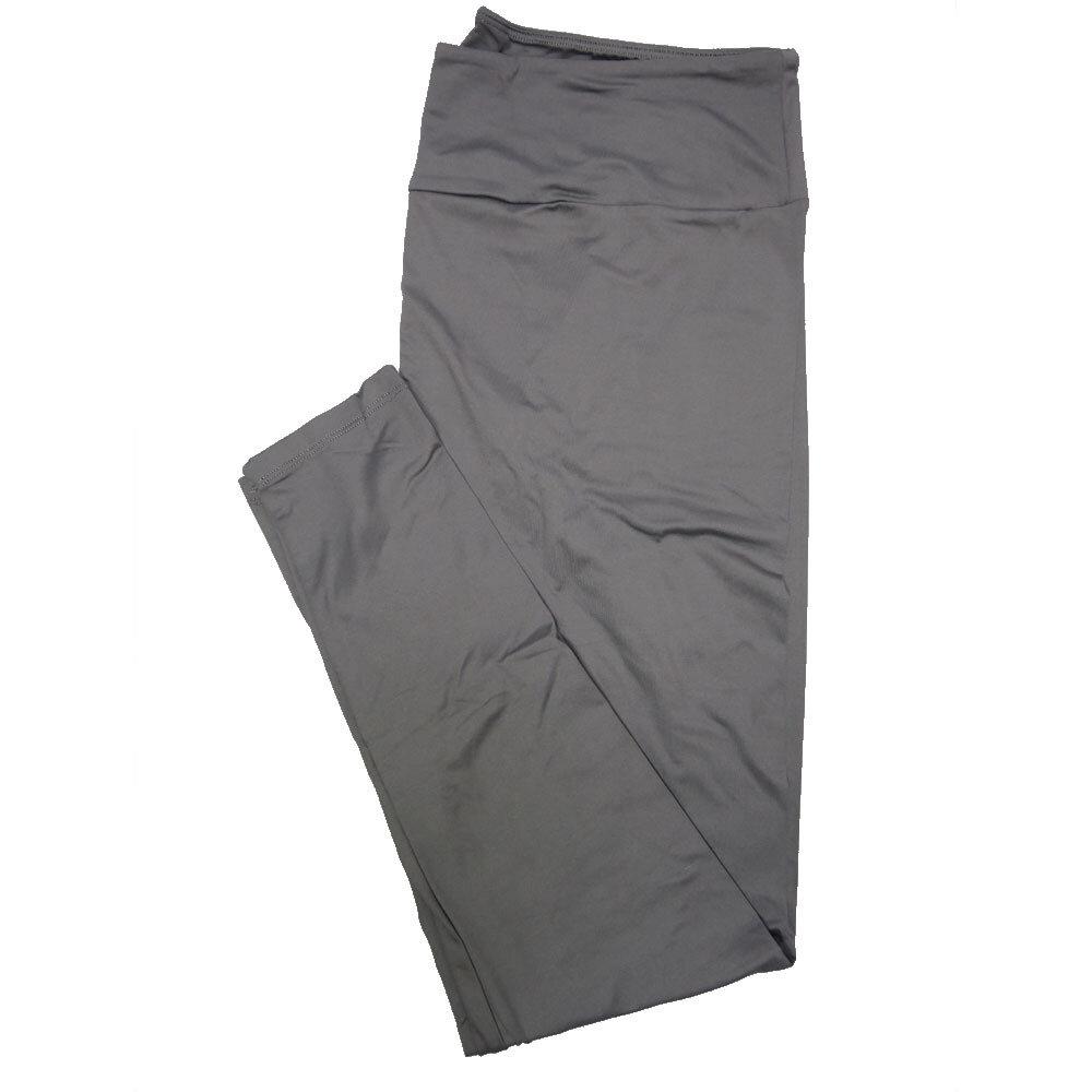 LuLaRoe TC2 Solids Pewter Gray (588840) Leggings (Tall Curvy 2 fits Sizes 18+)
