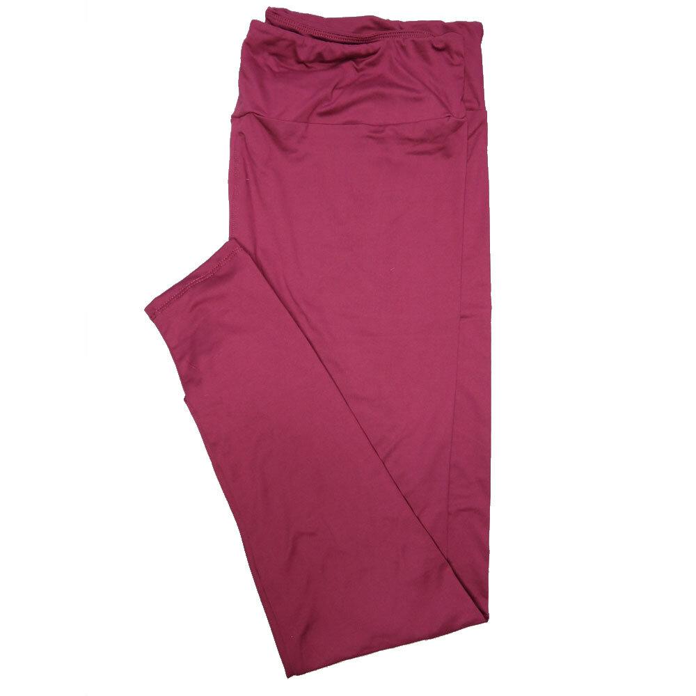 LuLaRoe TC2 Solids Plum (564046) Leggings (Tall Curvy 2 fits Sizes 18+)