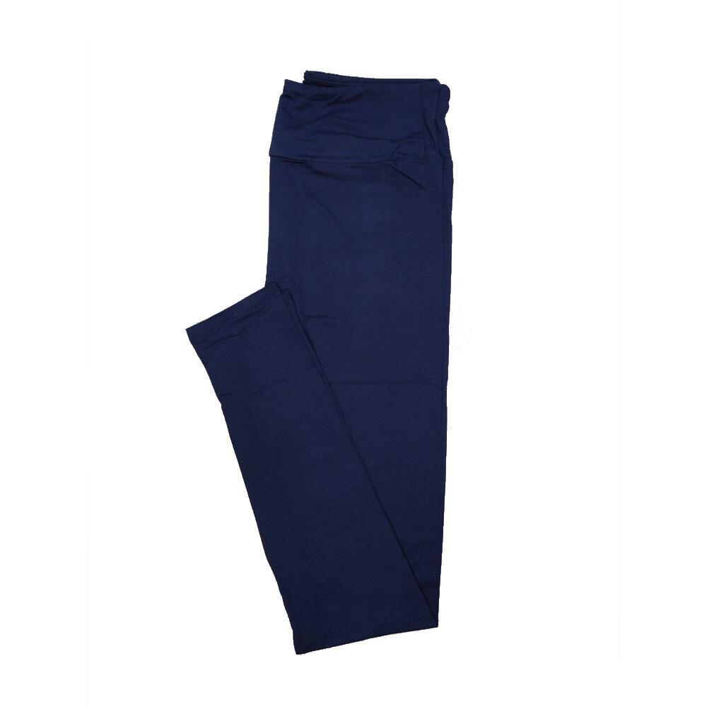 LuLaRoe Tall Curvy TC Solid Dark Blue / New Navy (193925) Womens Leggings fits Adult sizes 12-18