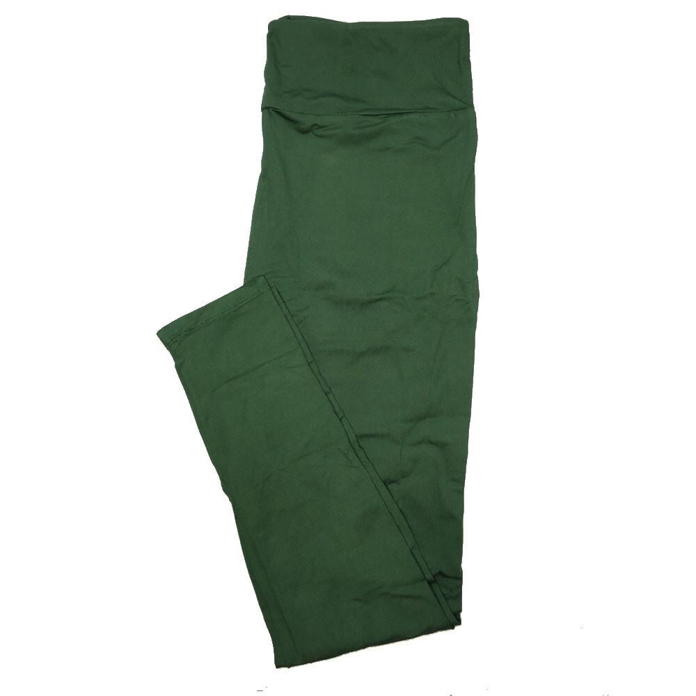 LuLaRoe TC2 Solids Hunter Green (195511) Leggings (Tall Curvy 2 fits Adult Sizes 18+)
