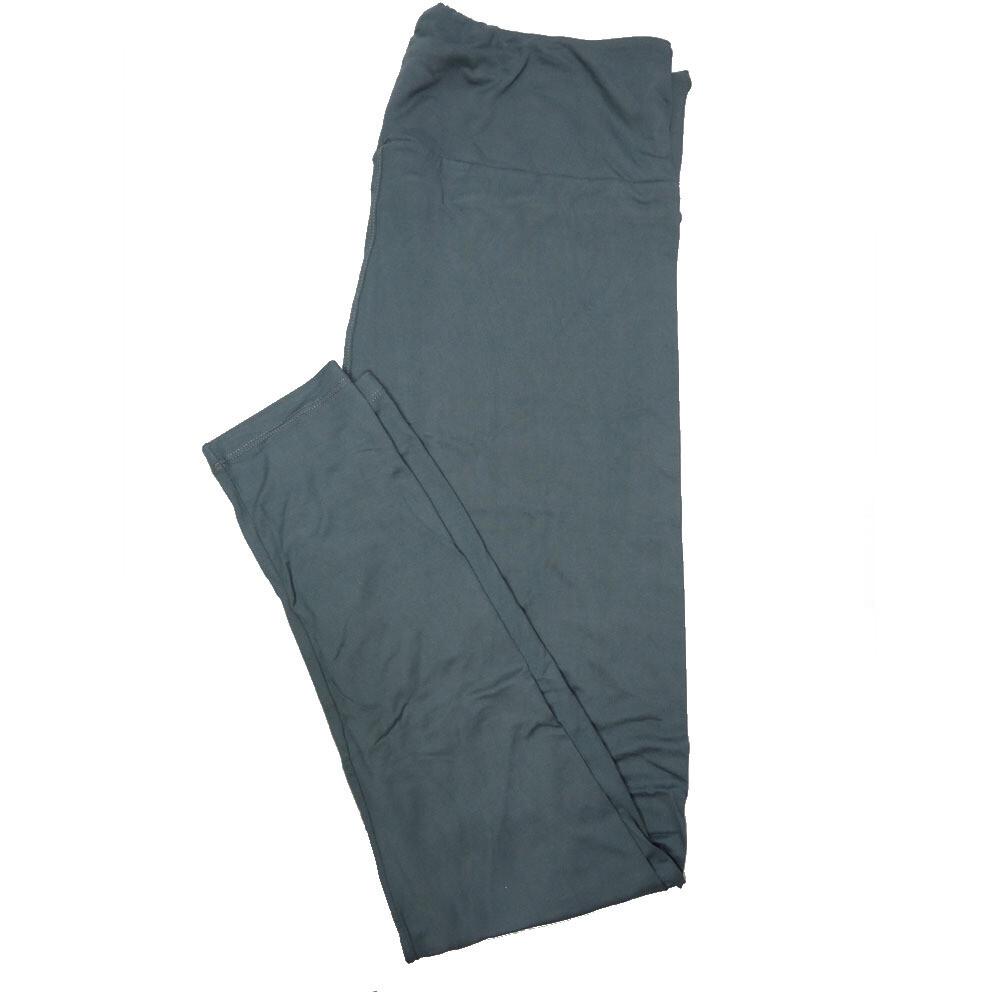 LuLaRoe Tall Curvy TC Solid Dark Turquoise (194524) Womens Leggings fits Adult sizes 12-18
