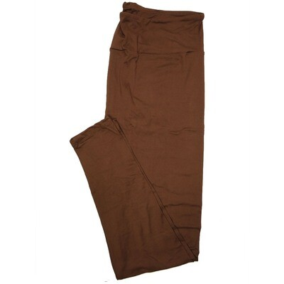 LuLaRoe Tall Curvy TC Solid Coffee Dark Chocolate (410-49783) Womens Leggings fits Adult sizes 12-18