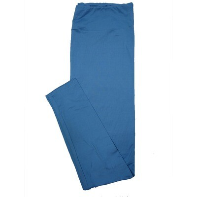 LuLaRoe Tall Curvy TC Solid Electric Blue (184032) Womens Leggings fits Adult sizes 12-18