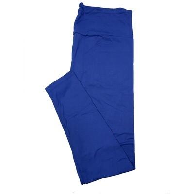 LuLaRoe Tall Curvy TC Solid Limoges Blue (194044) Womens Leggings fits Adult sizes 12-18