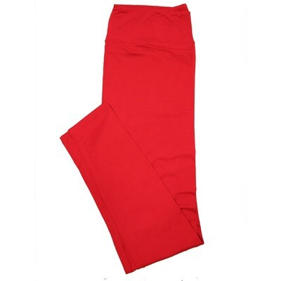 LuLaRoe Tall Curvy TC Solid Salsa Red (181657) Womens Leggings fits Adult sizes 12-18