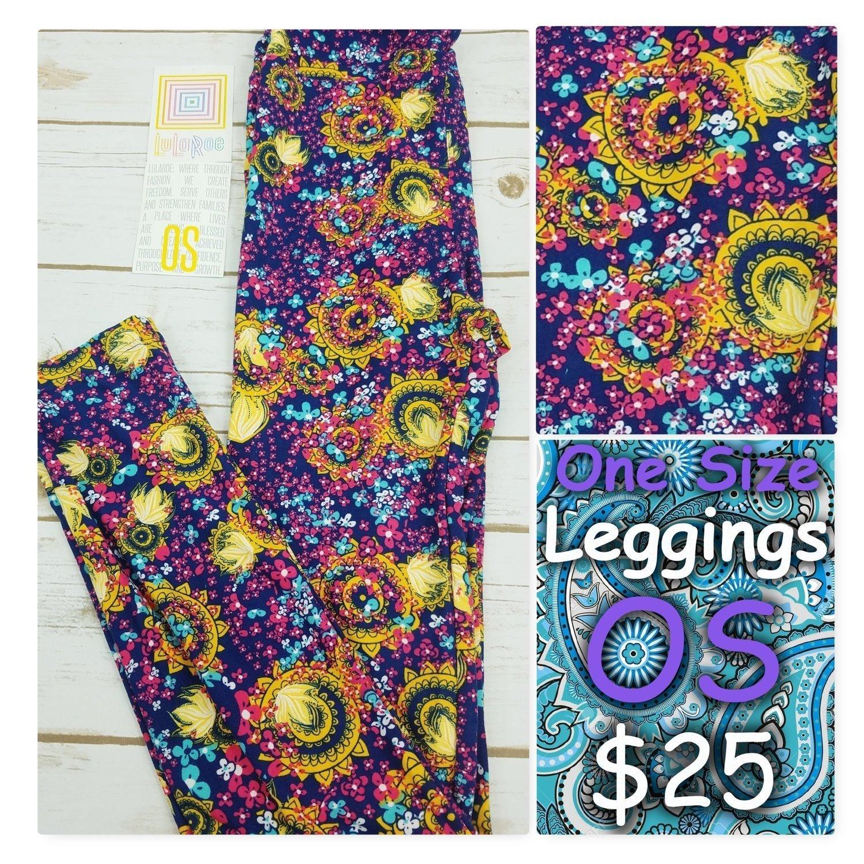 One Size (OS) Paisley LuLaRoe Leggings