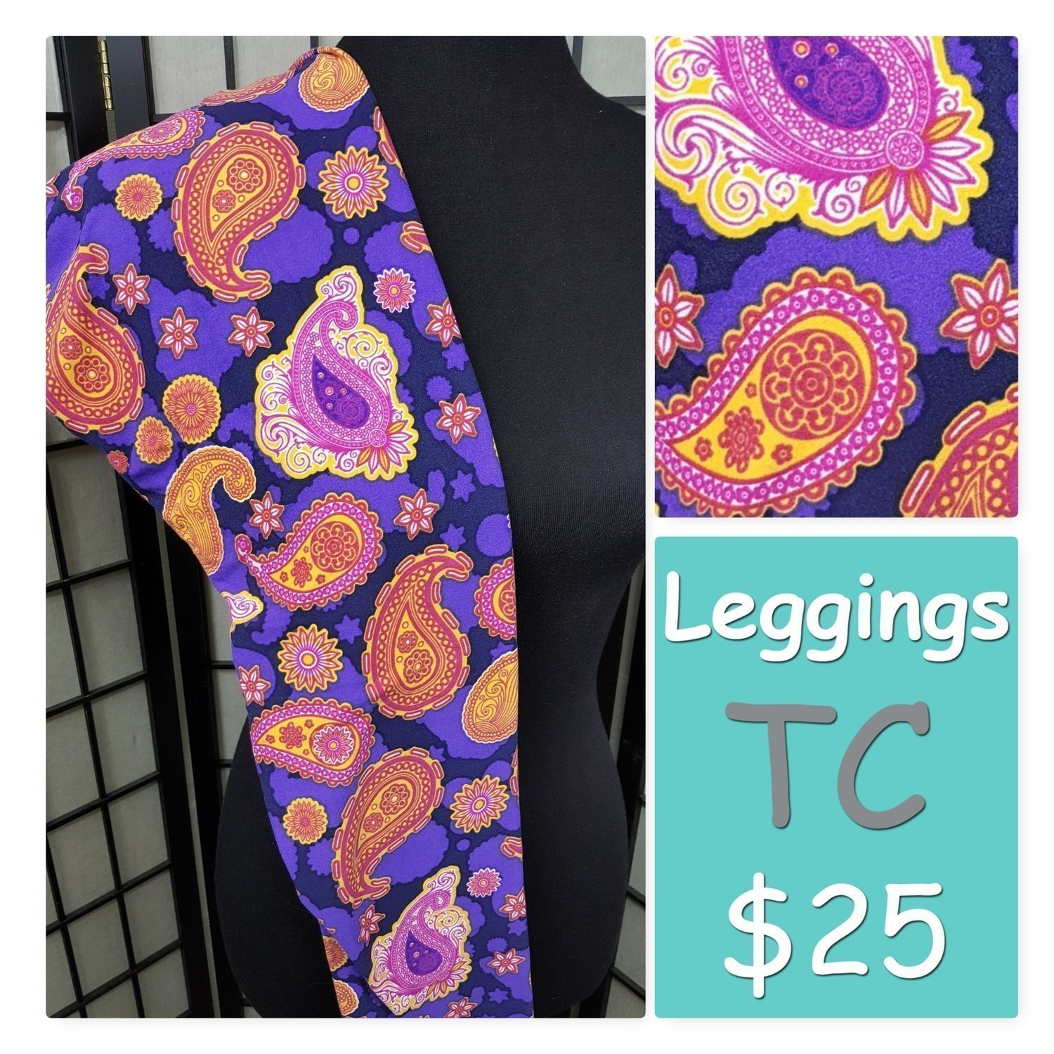 Tall Curvy (TC) Paisley LuLaRoe Leggings