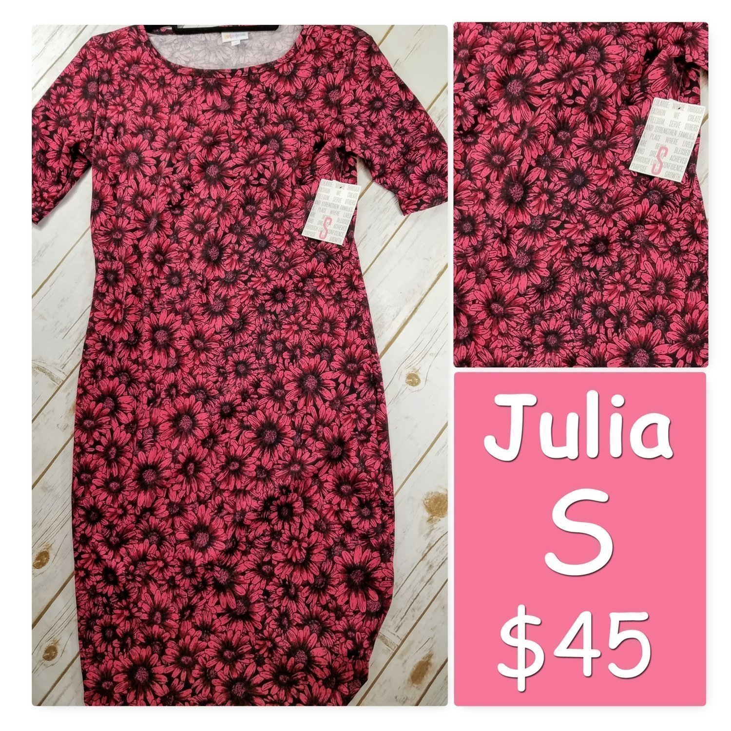 JULIA Small (S) LuLaRoe Womens Dress