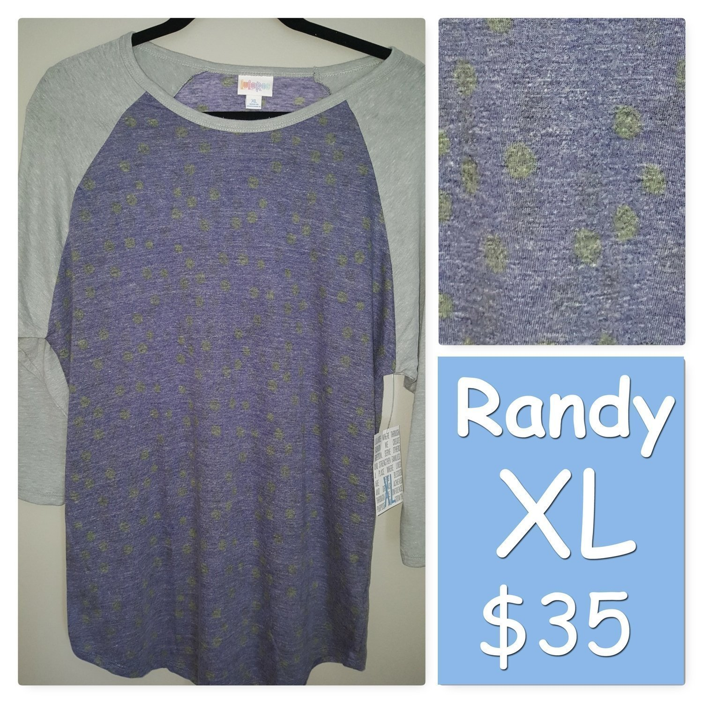 RANDY Tee X-Large (XL) LuLaRoe Womens Shirt