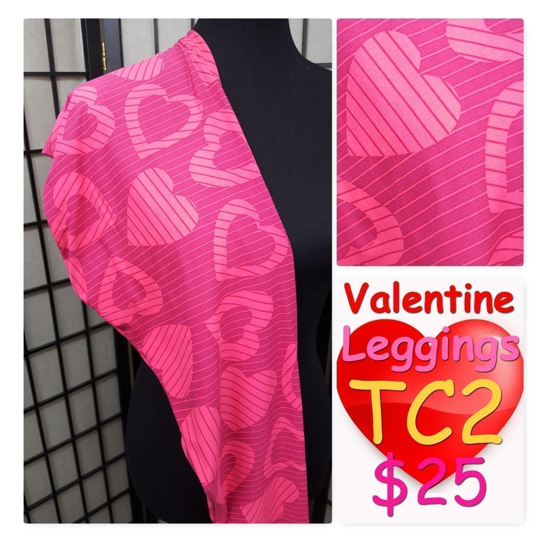 Tall Curvy Two (TC2) Hearts and Love LuLaRoe Leggings