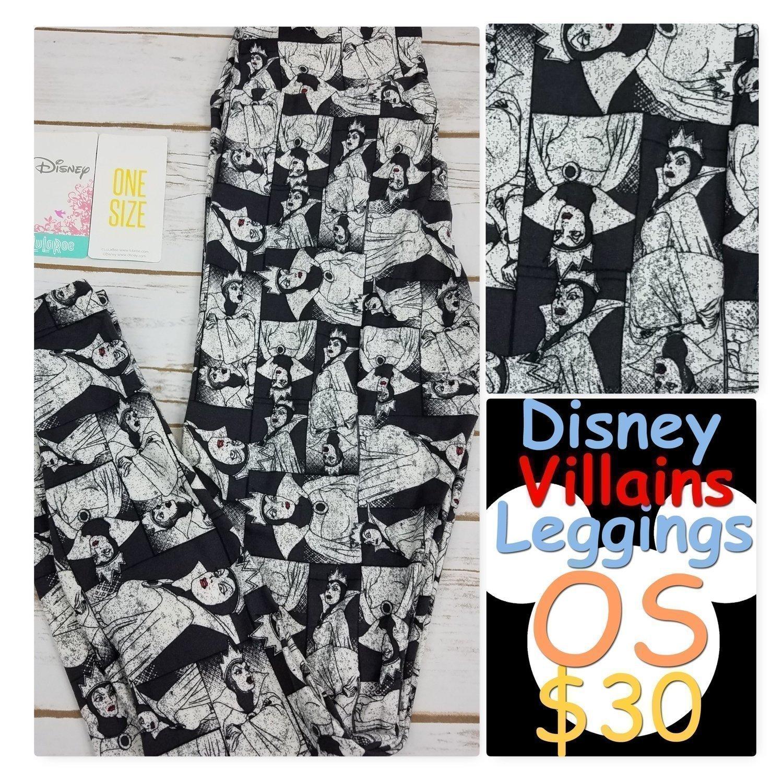 One Size (OS) 2018 Disney Villains LuLaRoe Leggings