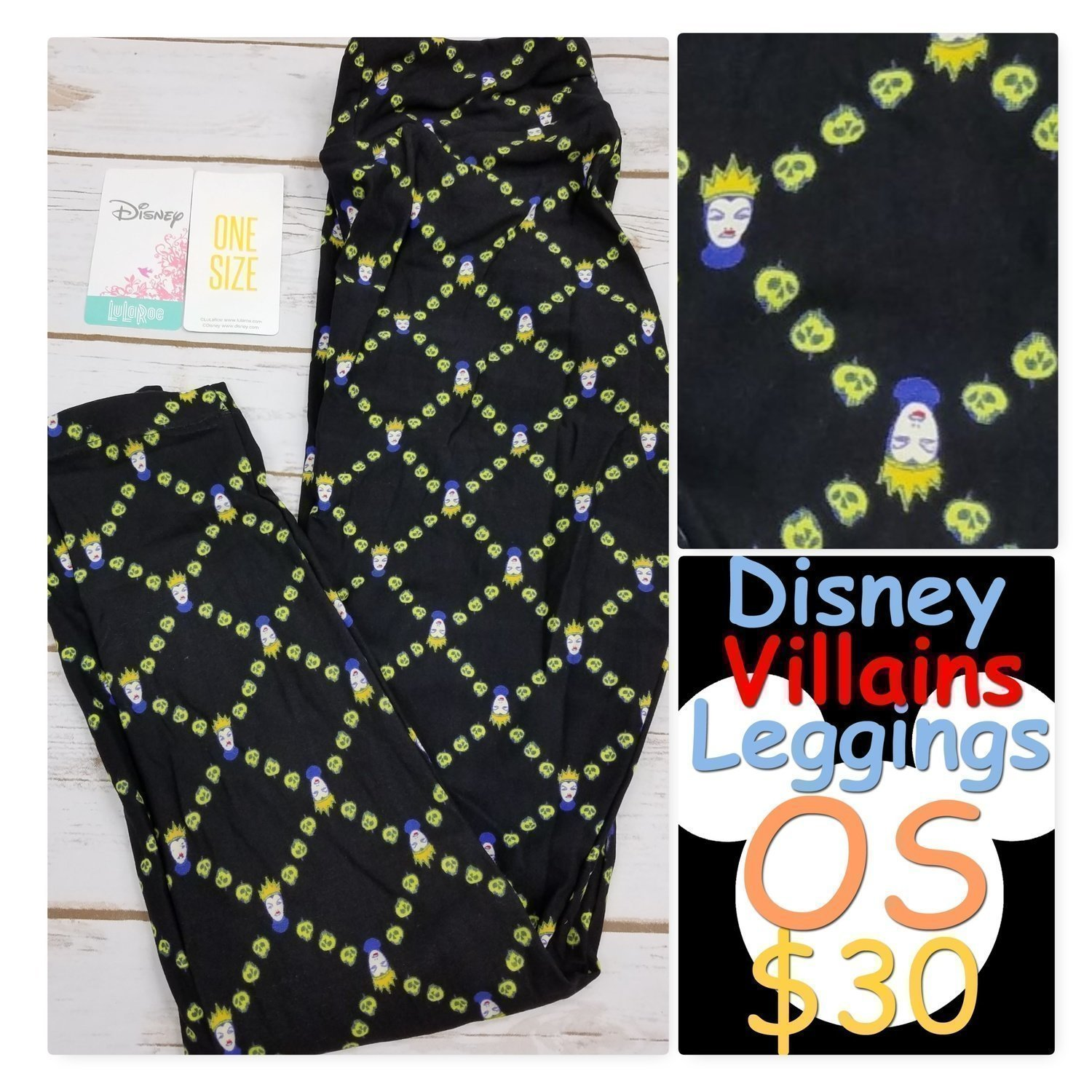 One Size (OS) 2018 Disney Villains LuLaRoe Leggings