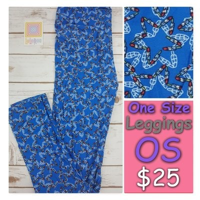 One Size (OS) Animals, Stars and Objects LuLaRoe Leggings