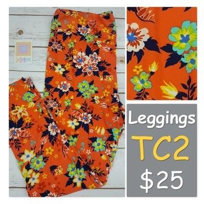 Tall Curvy Two (TC2) Floral LuLaRoe Leggings