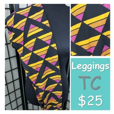 Tall and Curvy (TC) Adult Geometric LuLaRoe Leggings