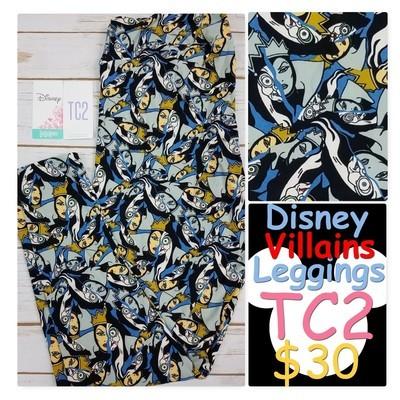 Tall Curvy Two (TC2) Disney Collection LuLaRoe Leggings