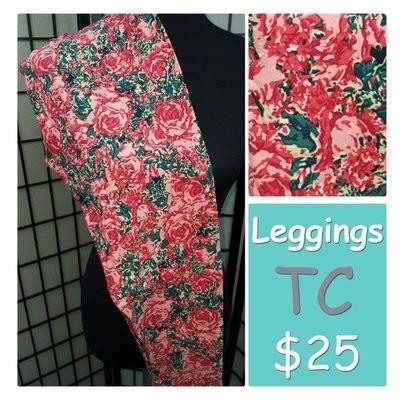 Tall and Curvy (TC) Roses Adult LuLaroe Leggings