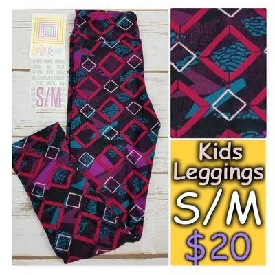 Leggings Kids Small-Medium (SM) LuLaRoe Geometric