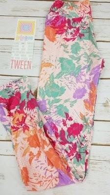 Leggings Kids Adult Tween (Tween)  Floral LuLaRoe Fits Adult Sizes 00-0