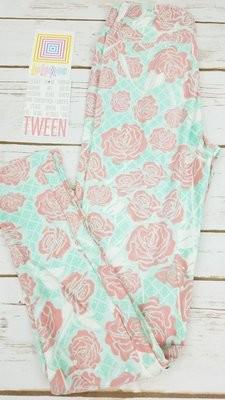 Leggings Kids Adult Tween (Tween)  Roses LuLaRoe Fits Adult Sizes 00-0