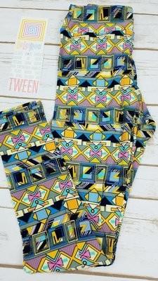 Leggings Kids Adult Tween (Tween)  Geometric LuLaRoe Fits Adult Sizes 00-0