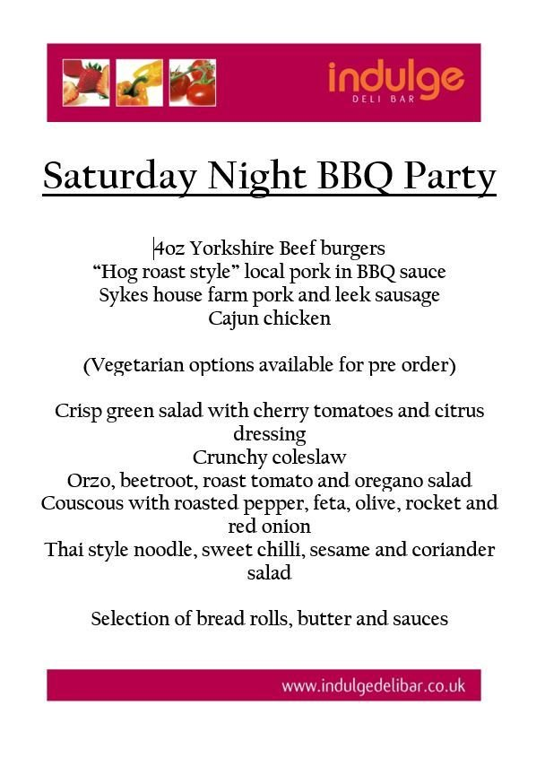 SATURDAY NIGHT BBQ BBQ 2019