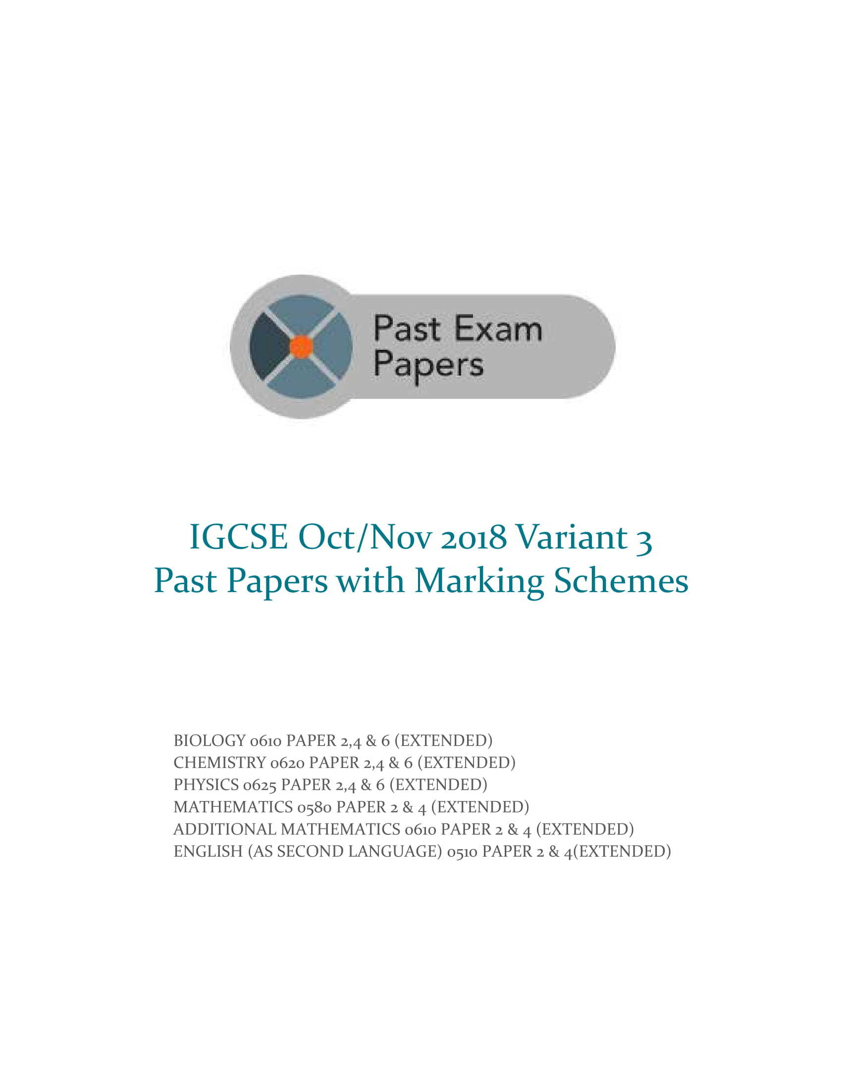 IGCSE Past Papers