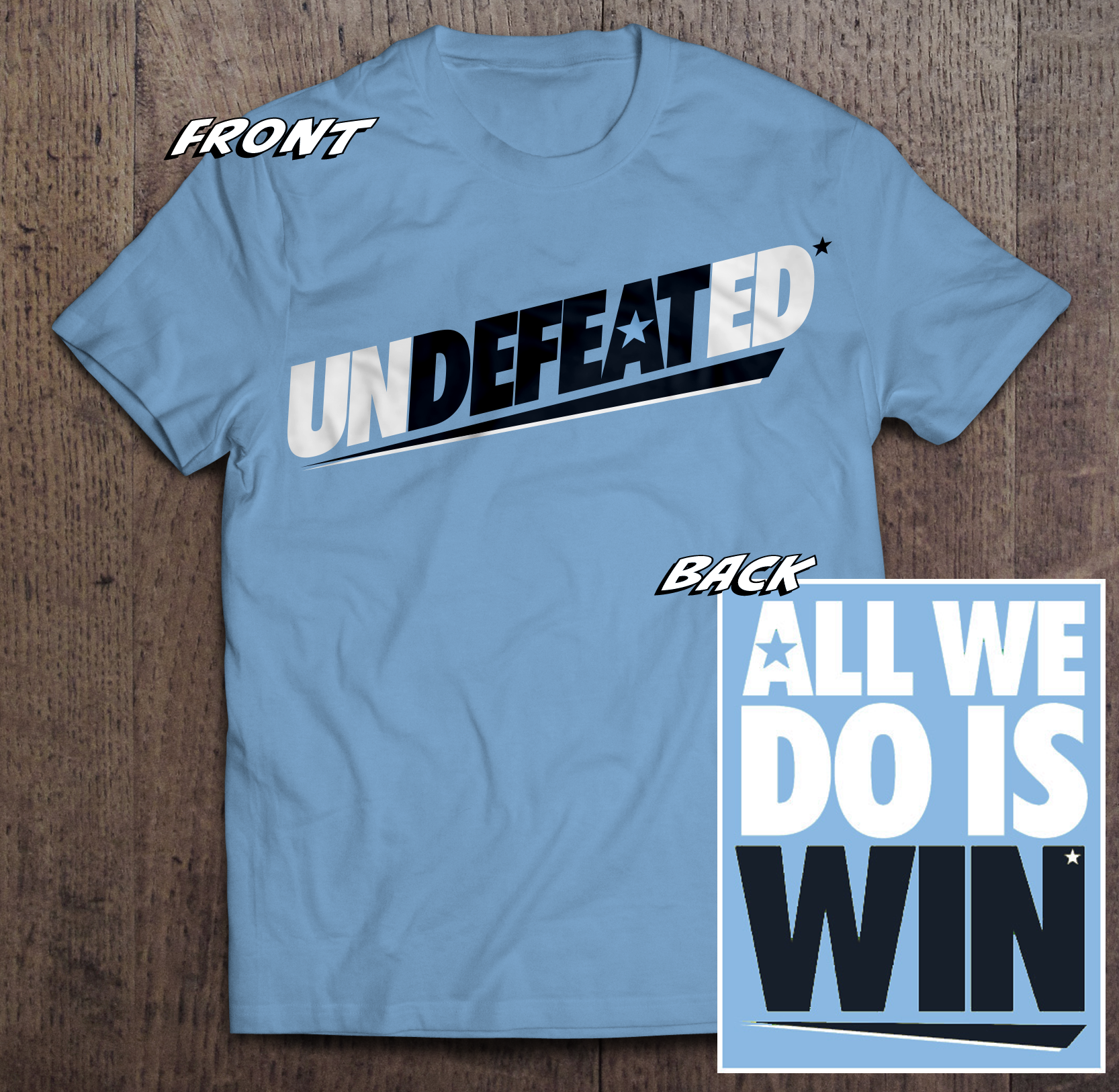 PRE-ORDER - NSW Undefeated* Tshirt TWIL-NSWU-2018