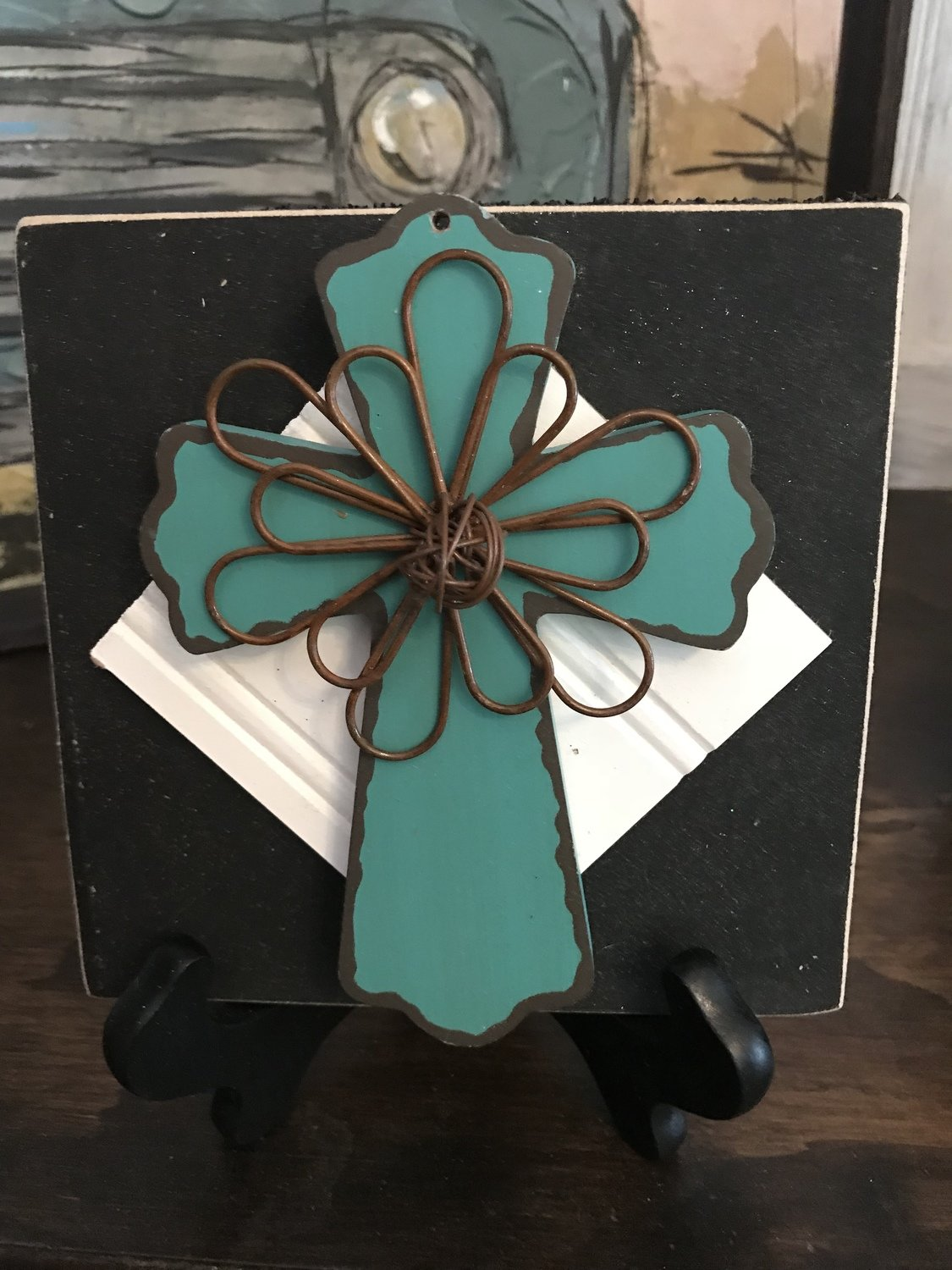 Iron and wooden cross change out