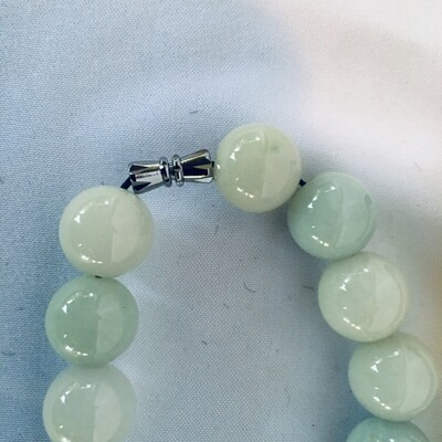 White Jade Necklace #345/2-57B
