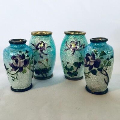 Lot: Four Mini Ginbari Cloisonne Vase #345/2-64