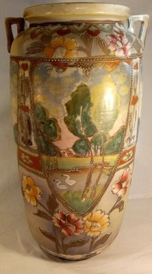 Large Japanese 1910 Hand Painted Vase ##14-162