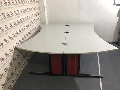 2er Set Schreibtische von König Neurath Metra 220x200-160cm