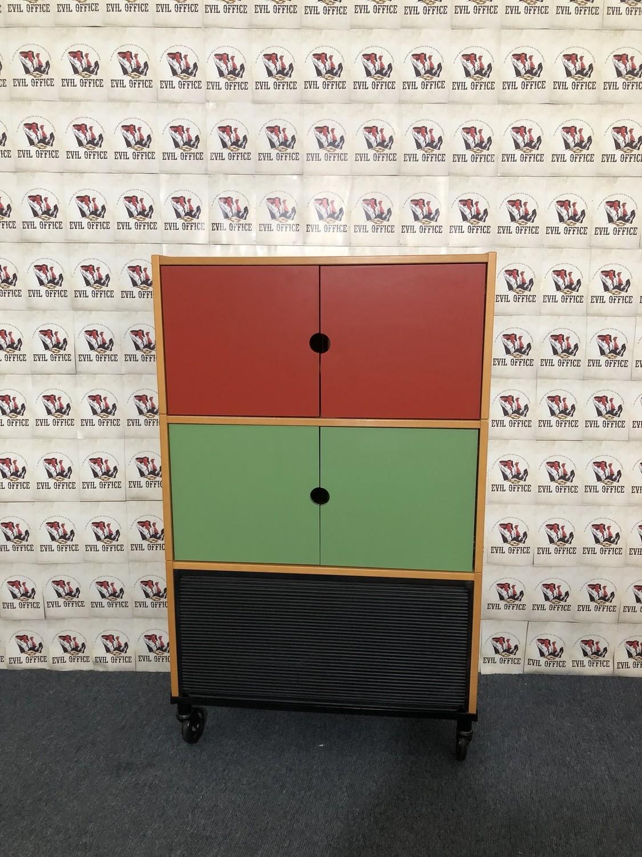 Ikea Fächerschrank Aktenchrank 3 OH Farbig / Buche auf Rollen