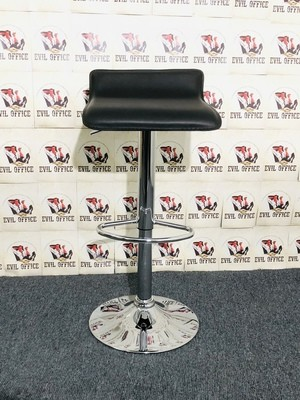 Hocker Stuhl in Schwarz / Chrom