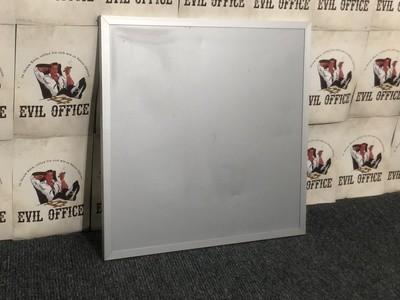 Magnettafel Whiteboard in Silbergrau 44x44cm